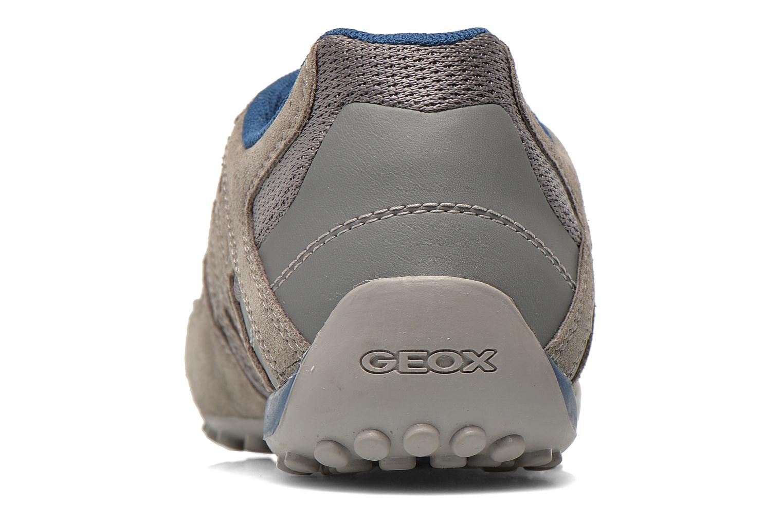 Baskets Geox U SNAKE K U4207K Gris vue droite