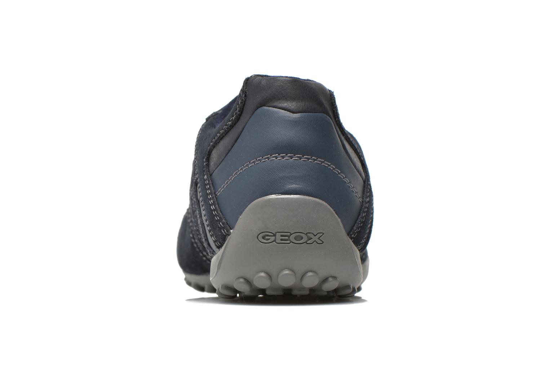 Baskets Geox U SNAKE K U4207K Bleu vue droite