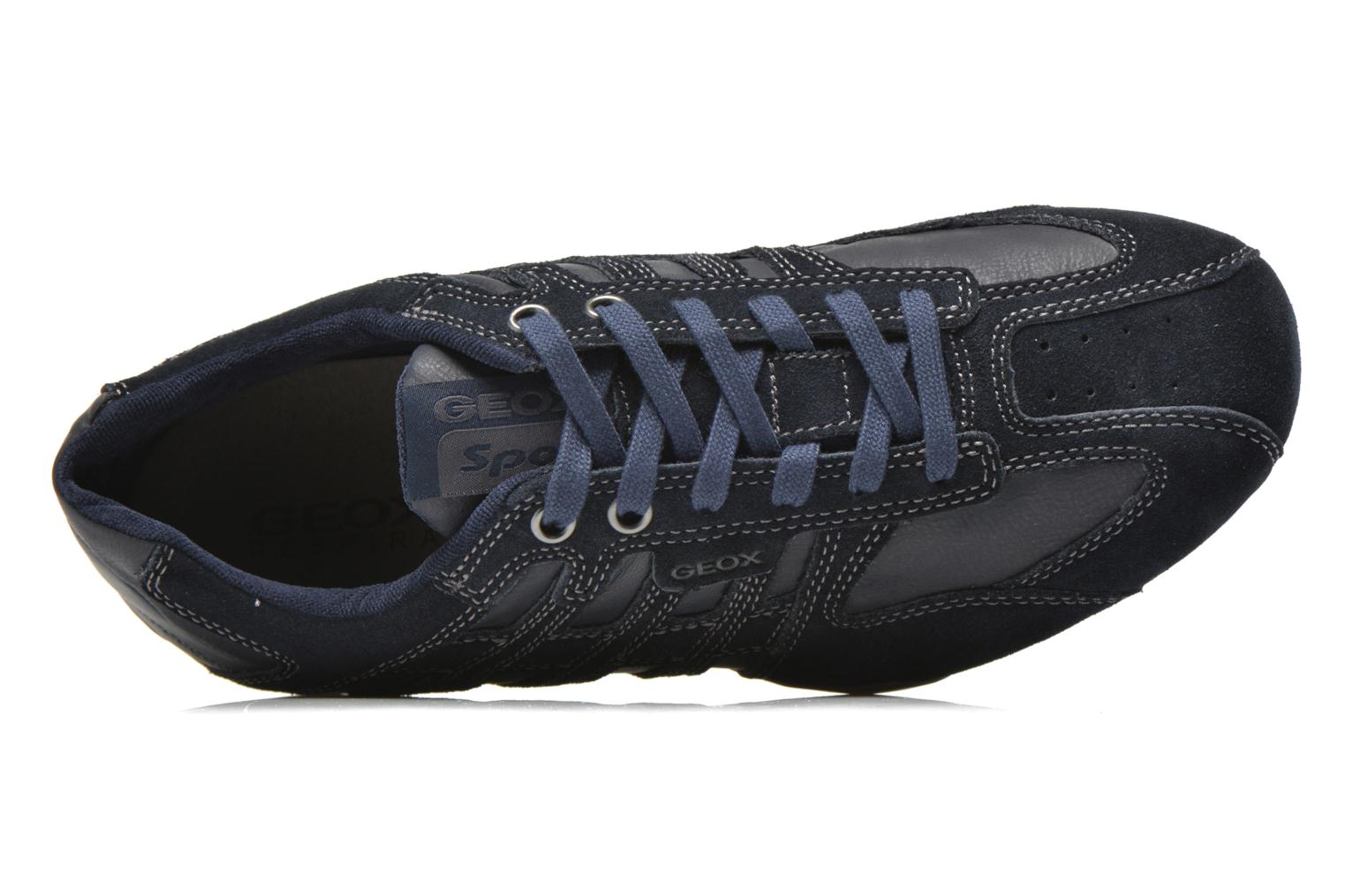 Trainers Geox U SNAKE K U4207K Blue view from the left
