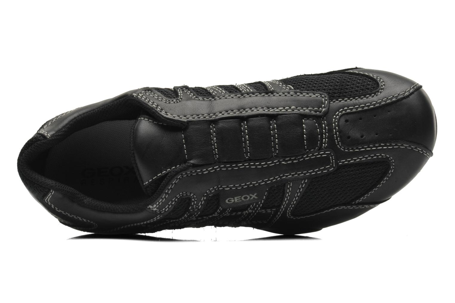 Trainers Geox U SNAKE L U4207L Black view from the left