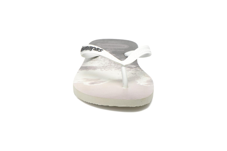 Tongs Havaianas Hype Gris vue portées chaussures