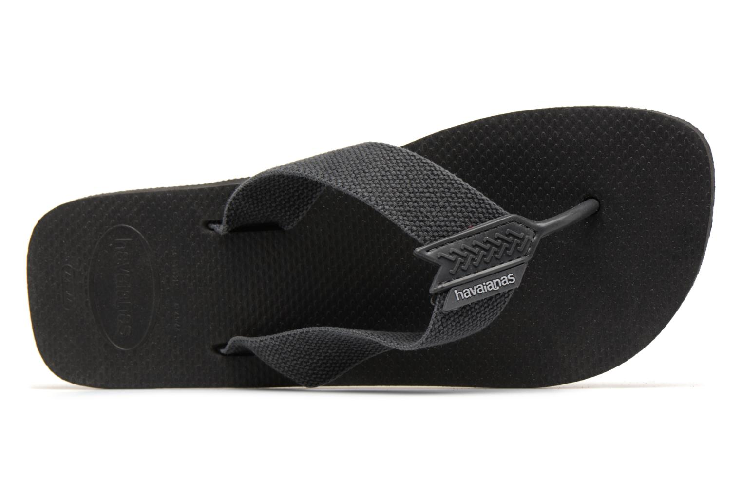 Flip flops Havaianas Urban Basic Black view from the left