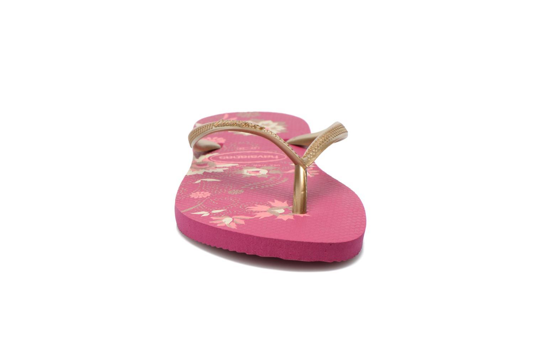 Tongs Havaianas Slim Organic Multicolore vue portées chaussures
