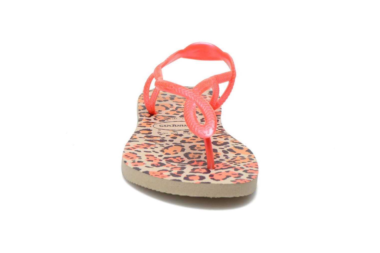 Sandales et nu-pieds Havaianas Havaianas Luna Animals Rose vue portées chaussures