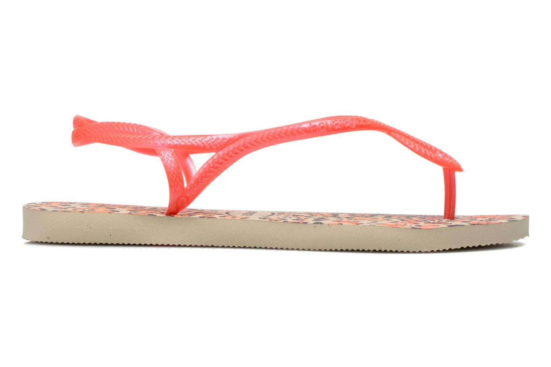 Sandalen Havaianas Havaianas Luna Animals rosa ansicht von hinten