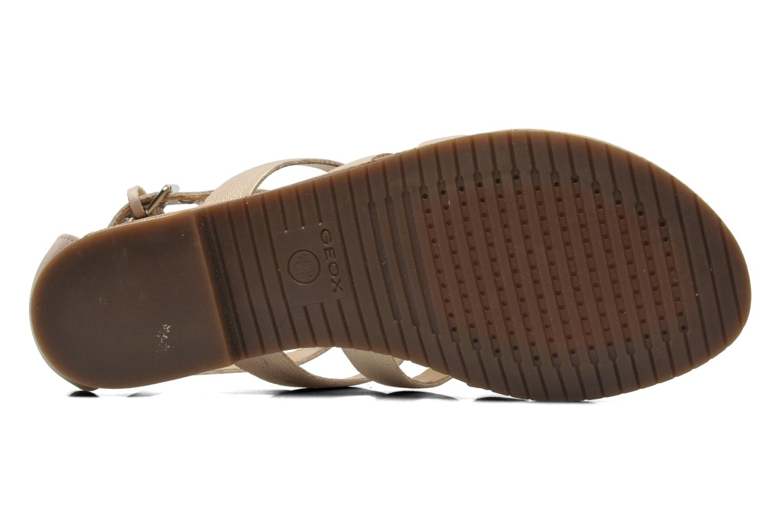 Sandals Geox D JOLANDA D D5275D Beige view from above