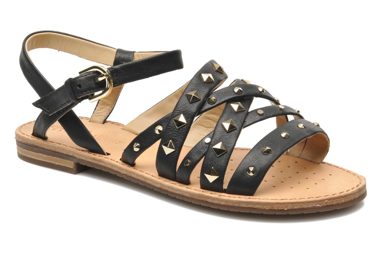 Sandals Geox D JOLANDA E D5275E Black detailed view/ Pair view