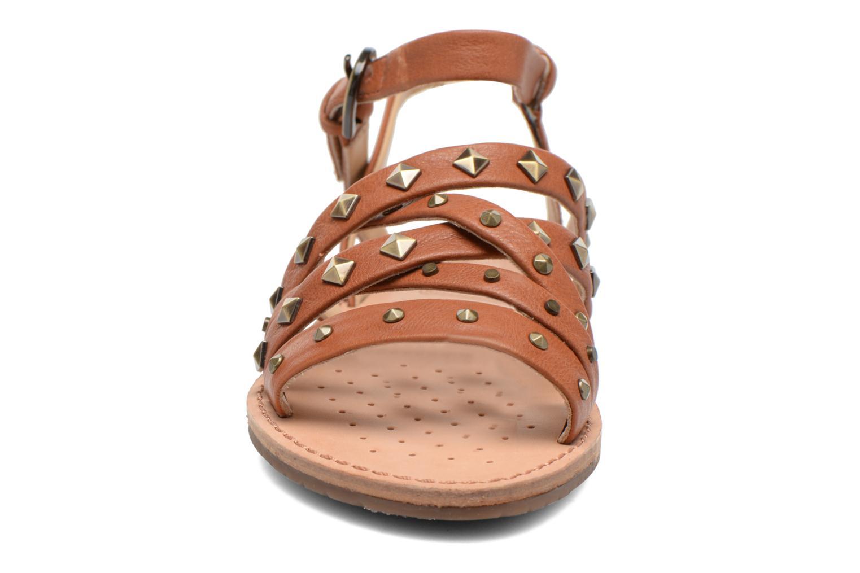 Sandales et nu-pieds Geox D JOLANDA E D5275E Marron vue portées chaussures