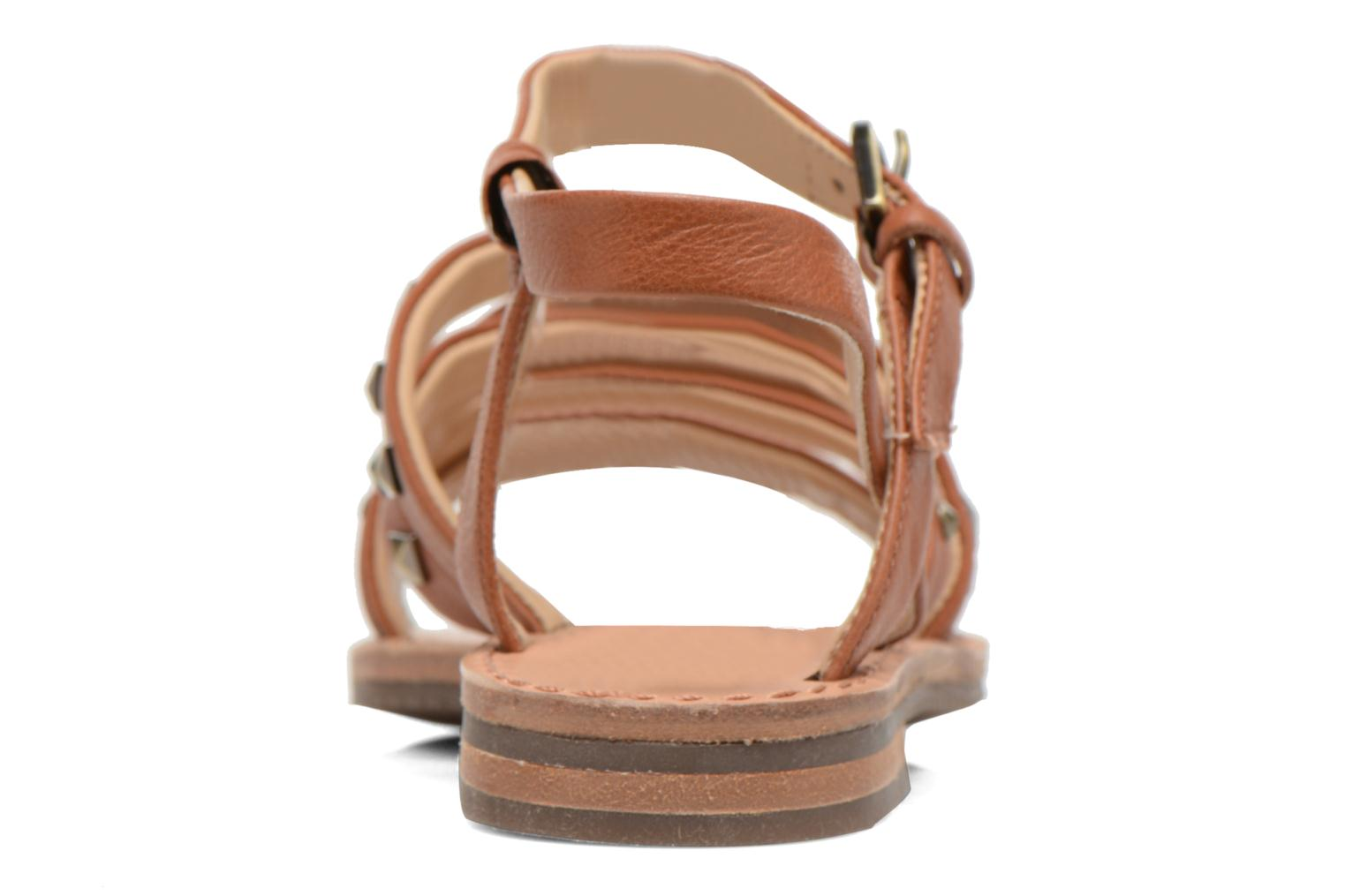 Sandals Geox D JOLANDA E D5275E Brown view from the right