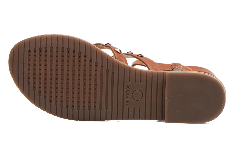 Sandales et nu-pieds Geox D JOLANDA E D5275E Marron vue haut