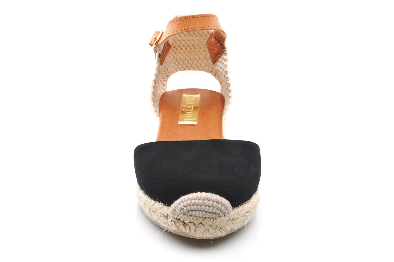 Sandales et nu-pieds Maypol Macaret Noir vue portées chaussures