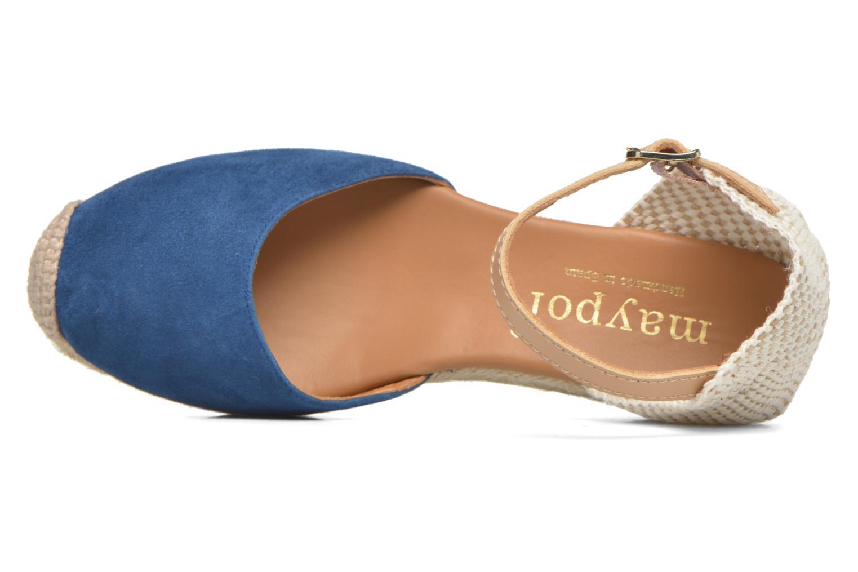 Sandalen Maypol Macaret blau ansicht von links