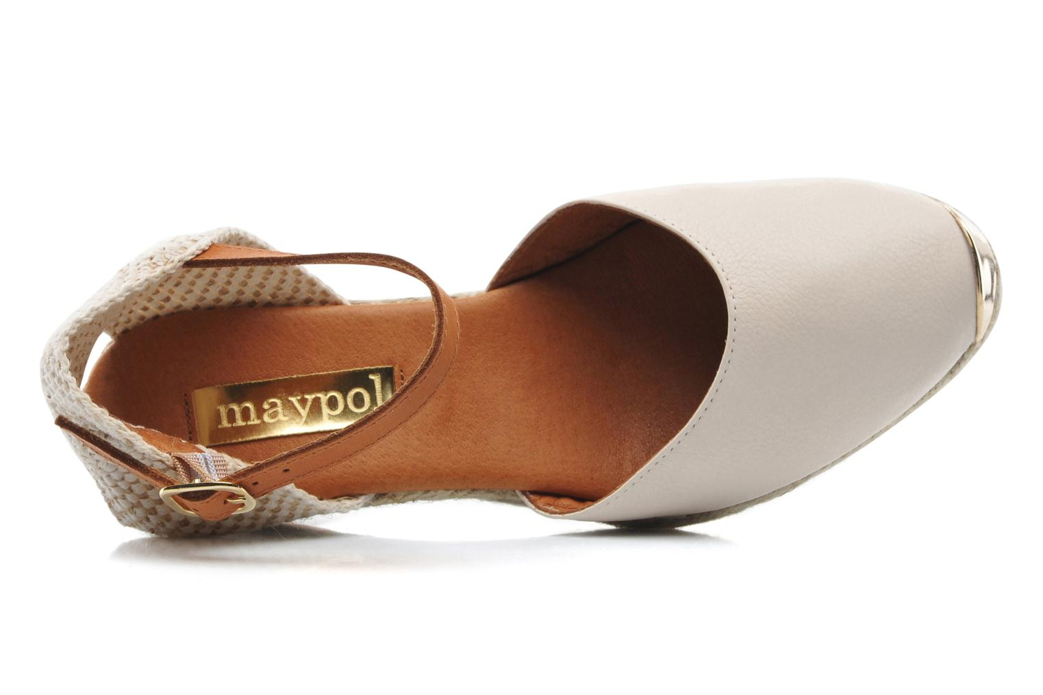 Sandals Maypol Luz Beige view from the left