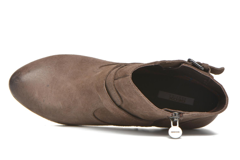 Boots en enkellaarsjes Geox D Kali C D44L1C Bruin links