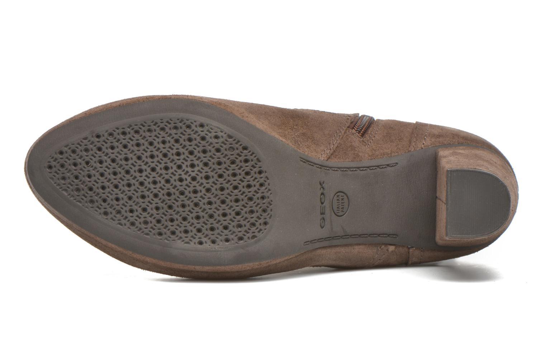 Boots en enkellaarsjes Geox D Kali C D44L1C Bruin boven