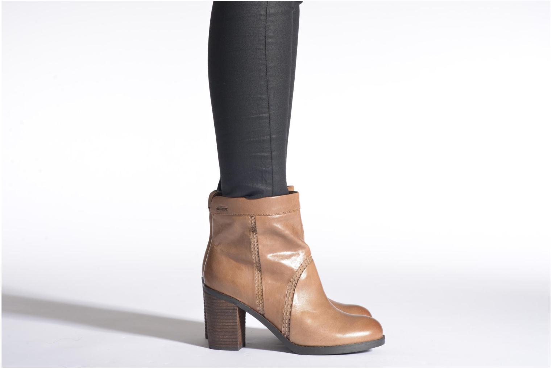 Stiefeletten & Boots Geox D Sylvia A D44H4A schwarz ansicht von unten / tasche getragen