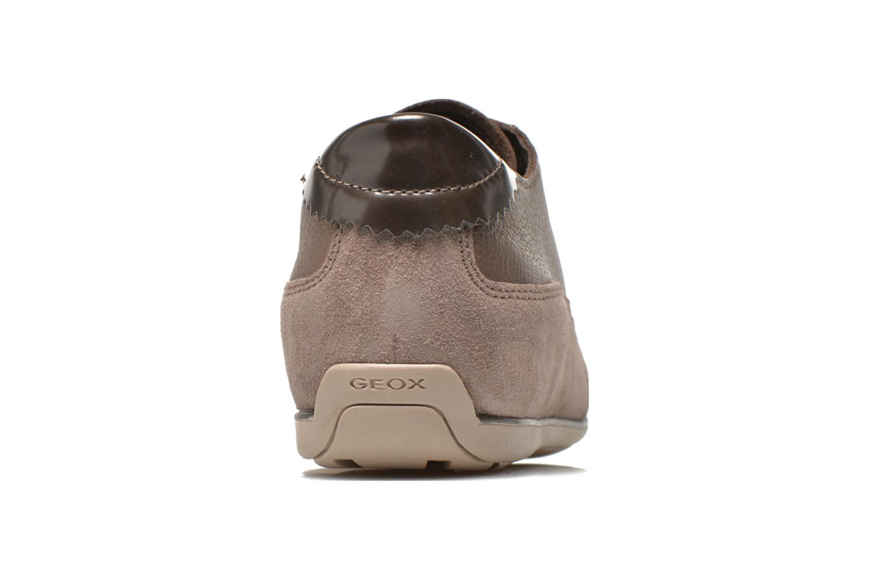 Baskets Geox D New Moena A D4260A Or et bronze vue droite