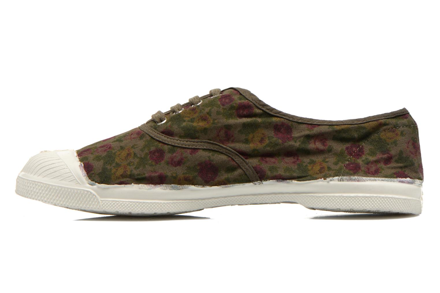 Baskets Bensimon Tennis Paco Chicano Fleurs Multicolore vue face