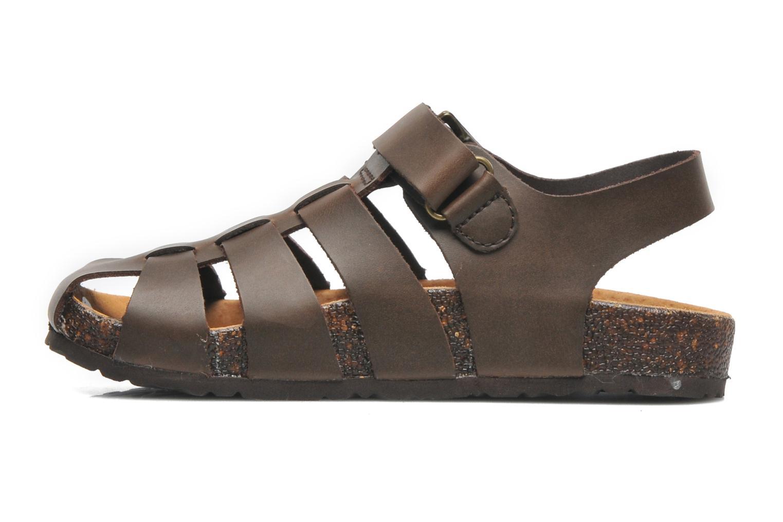 Sandales et nu-pieds Kickers MAGIFLO Marron vue face