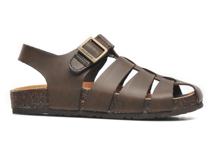 Sandales et nu-pieds Kickers MAGIFLO Marron vue derrière