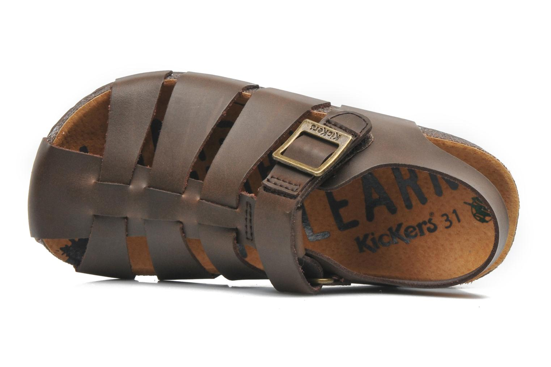 Sandales et nu-pieds Kickers MAGIFLO Marron vue gauche