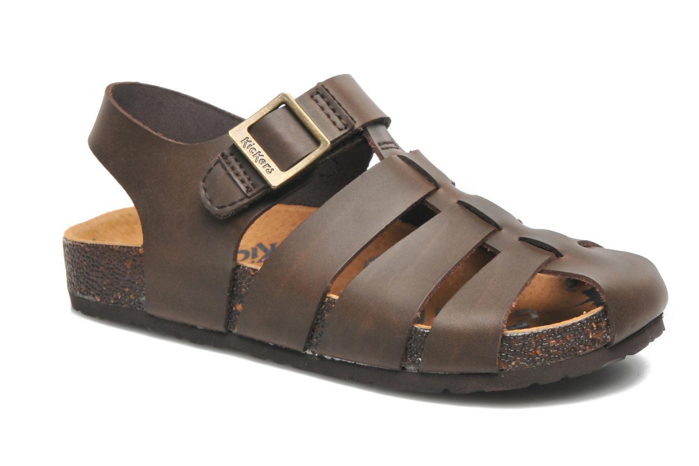 Sandales et nu-pieds Kickers MAGIFLO Marron vue détail/paire