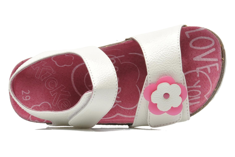 Sandalen Kickers MAGILOVE weiß ansicht von links