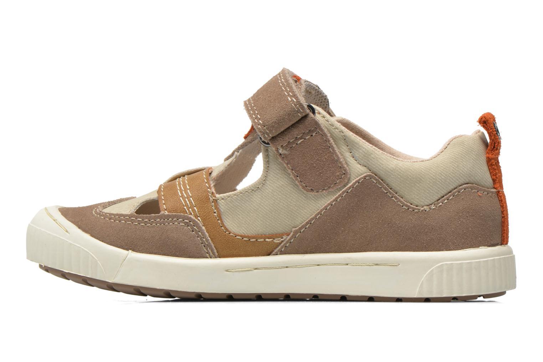 Schoenen met klitteband Kickers ZIGUERO Beige voorkant