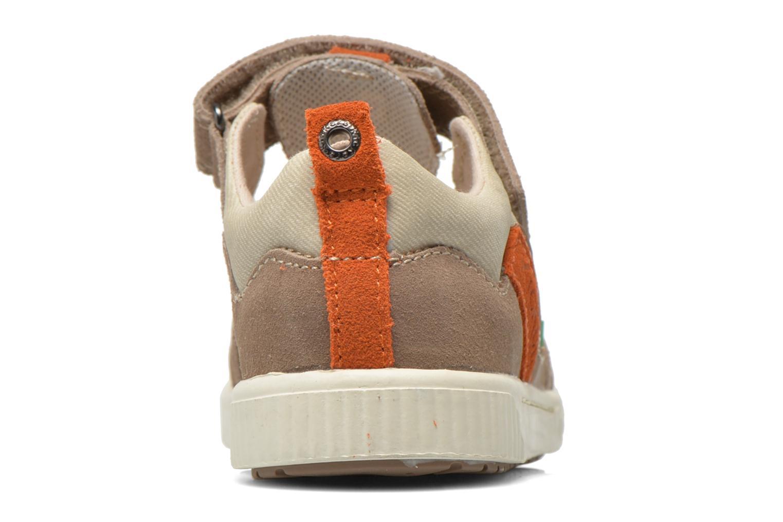 Schoenen met klitteband Kickers ZIGUERO Beige rechts