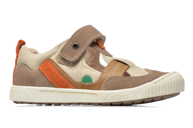 Schoenen met klitteband Kickers ZIGUERO Beige achterkant