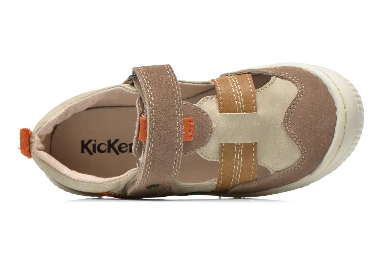 Schoenen met klitteband Kickers ZIGUERO Beige links
