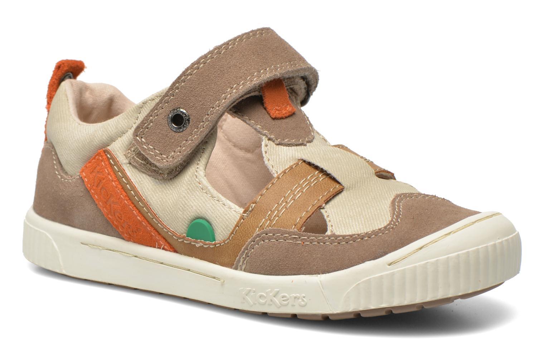 Schoenen met klitteband Kickers ZIGUERO Beige detail