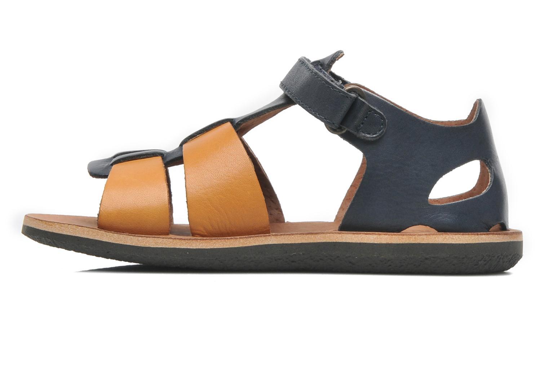 Sandalen Kickers SPAZZO blau ansicht von vorne