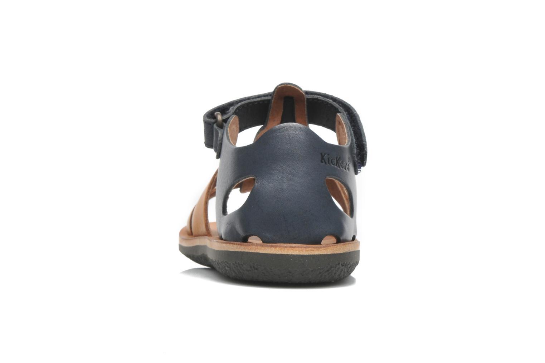Sandalen Kickers SPAZZO blau ansicht von rechts