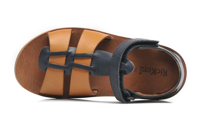 Sandales et nu-pieds Kickers SPAZZO Bleu vue gauche