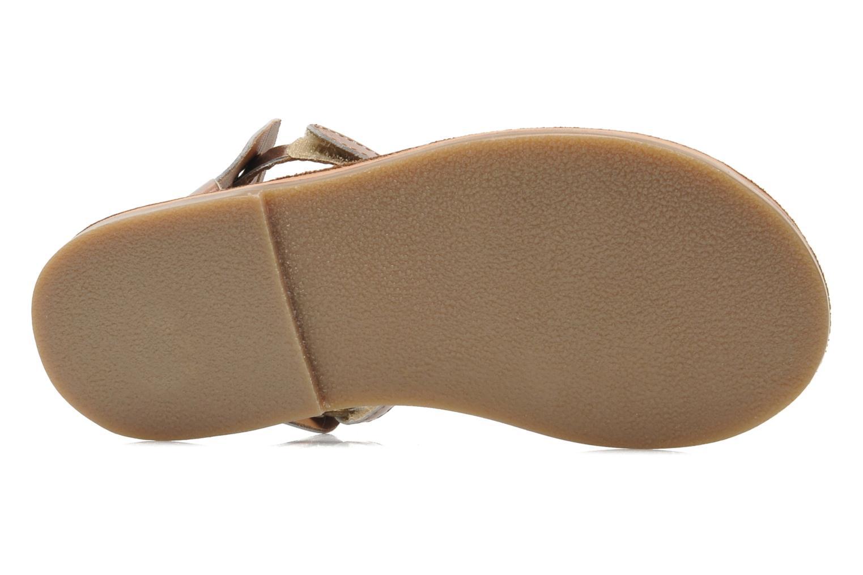 Sandalen Kickers PARPILLON rosa ansicht von oben