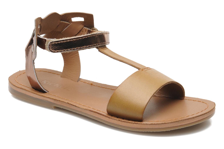 Sandalen Kickers PARPILLON rosa detaillierte ansicht/modell