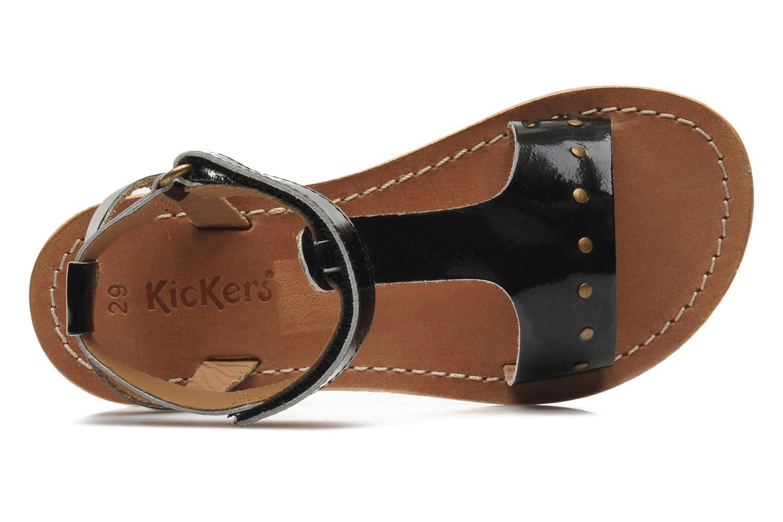 Sandalias Kickers DIZAINE V Negro vista lateral izquierda