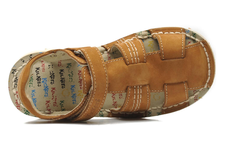 Sandales et nu-pieds Kickers NEOROBIS Marron vue gauche