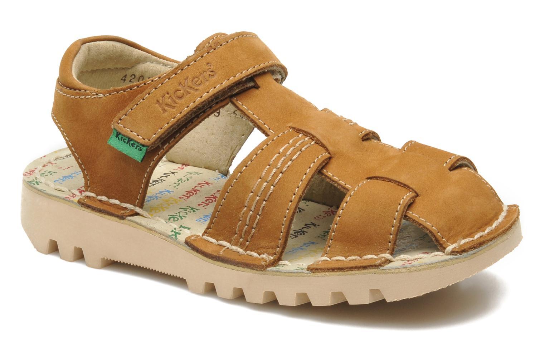 Sandales et nu-pieds Kickers NEOROBIS Marron vue détail/paire