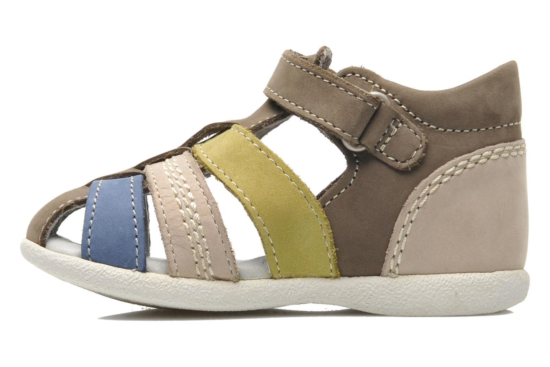 Sandalen Kickers BABYSUN2 grau ansicht von vorne