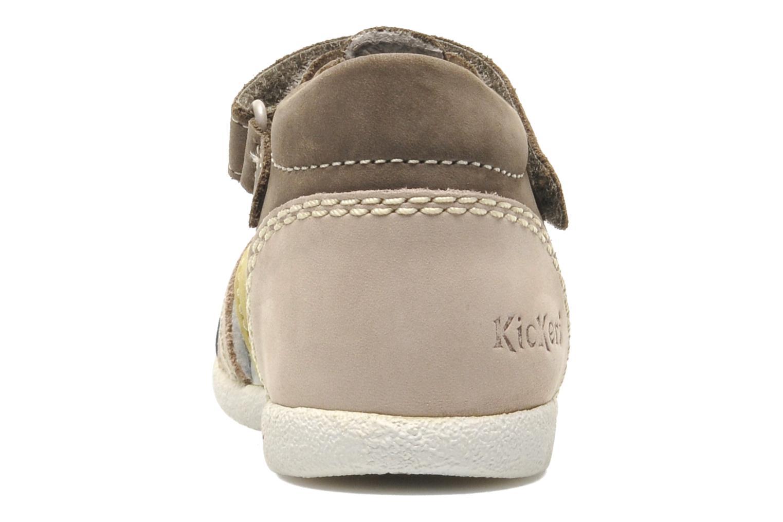 Sandalen Kickers BABYSUN2 grau ansicht von rechts