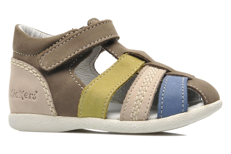 Sandalen Kickers BABYSUN2 grau ansicht von hinten