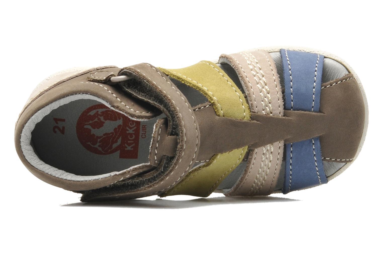 Sandalen Kickers BABYSUN2 grau ansicht von links