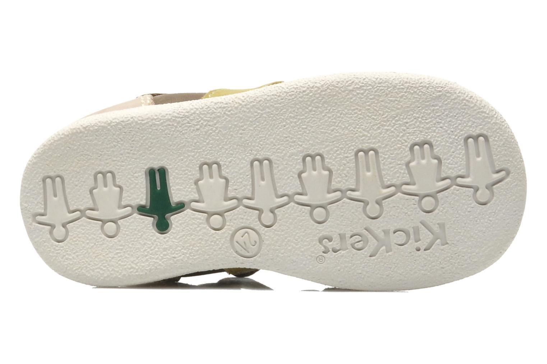 Sandalen Kickers BABYSUN2 grau ansicht von oben