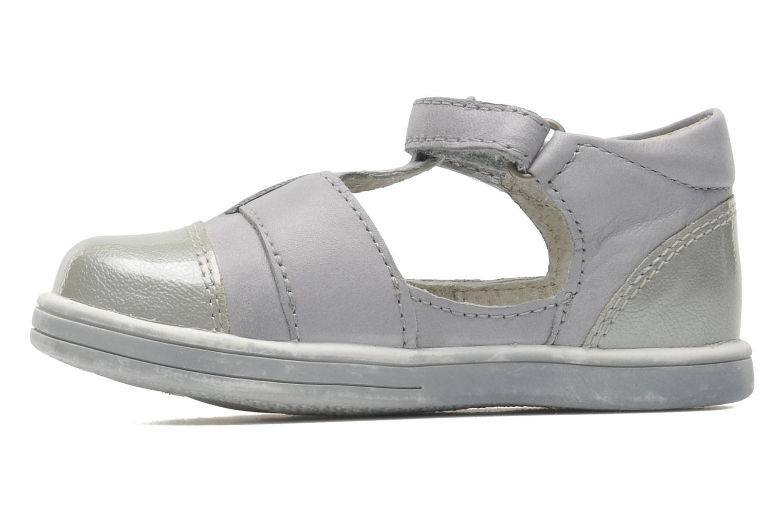 Zapatos con velcro Kickers TREFUN Gris vista de frente