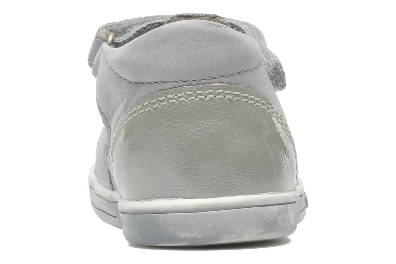 Zapatos con velcro Kickers TREFUN Gris vista lateral derecha