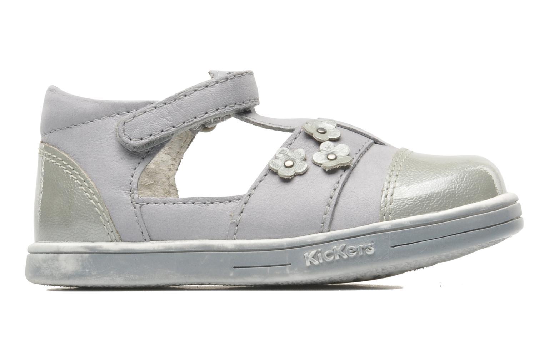 Zapatos con velcro Kickers TREFUN Gris vistra trasera