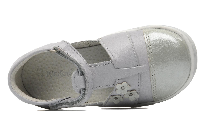 Zapatos con velcro Kickers TREFUN Gris vista lateral izquierda