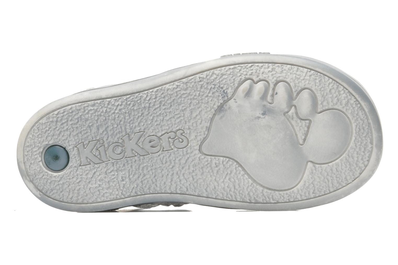 Zapatos con velcro Kickers TREFUN Gris vista de arriba